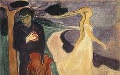 Separation is an Expressionist Oil on Canvas Painting created by Edvard Munch in It lives at the Munch Museum in Norway. The image is in the Public Domain. Edvard Munch, Google Art Project, Giacometti, List Of Paintings, Critique D'art, Art Criticism, Poster Prints, Art Prints, Wassily Kandinsky