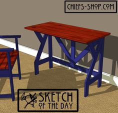 Sketch of the Day: Writing Desk