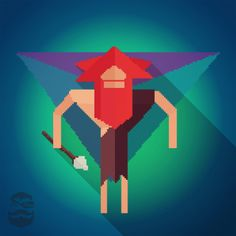 #caveman #design 1 of 3 new #designs for a #timetravel #ios #gamedev #lowpoly #pixelart #mrbray #nomad #flatdesign #game #app #printdesign #adobe #illustrator #photoshop #illustration #8bit #16bit #color #colorful #graphic #graphicdesign #gameart #evolution #artoftheday