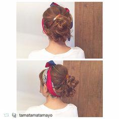 バーバレッタ(L)べっ甲 スカーフと合わせて可愛いアレンジに使っていただきました  シンプルなデザインですが 長さがしっかりあるので 存在感がでるアイテムです  #sAnコレ #repost @tamatamatamayo via @PhotoAroundApp  today's  arrange    #ヘアアレンジ#ヘアスタイル#アレンジ#hair#hairarrange#hairstyle#セルフアレンジ#美容師#バレッタ#スカーフ#スカーフアレンジ#san_official