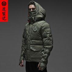 花笙记民族复古中国风男刺客短款修身连帽加厚棉衣棉袄外套冬季