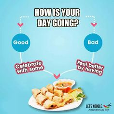 Delicious spring rolls can change your bad day in good one! Experience it yourself at Let's Noodle