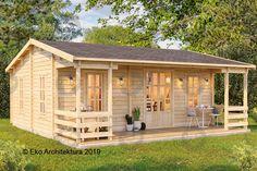 Bamboo House Design, Minimal House Design, Modern Small House Design, Tiny House Design, Cottage Style House Plans, Bungalow House Design, Tiny House Cabin, Wooden House Plans, Garden Log Cabins
