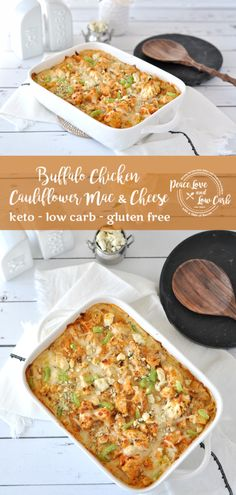 This rich and cheesy Keto Buffalo Chicken Cauliflower Mac and Cheese is the ultimate in gluten free keto comfort food. So good you won't even miss the pasta Cauliflower Mac And Cheese, Chicken Cauliflower, Cauliflower Recipes, Keto Chicken, Buffalo Cauliflower, Chicken Meals, Cheese Recipes, Low Carb Recipes, Real Food Recipes