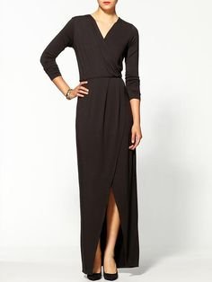 an essential black maxi with sleeves #modest #staple