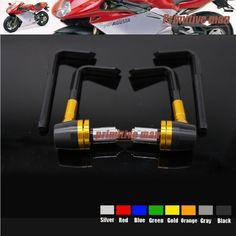 "For  MV AGUSTA F4/F3RSV1000 Aluminum&ABS Protector Handlebar 7/8"" 22mm Brake Clutch Levers Protect Guard Gold"