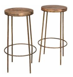 Pair of 1920's Industrial Bar Stools
