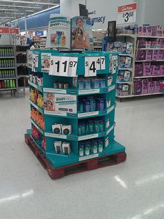 Teen Vogue 1/2 Pallet by kendalkinggroup, via Flickr Pop Display, Teen Vogue, Pos, Pallet, Walmart, Shed Base, Palette, Pallets, Wooden Pallets