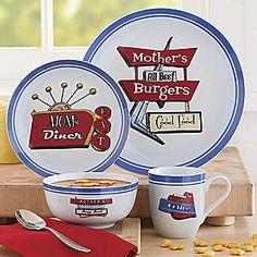 Moms Diner 16-Piece Dinnerware Set from Seventh Avenue ®   EV62750 $34.95