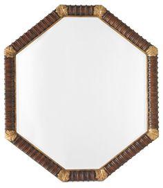 Acanthus Octagonal Mirror, Mahogany
