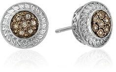 Sterling Silver Champagne Diamond-Accented Stud Earrings (0.08 cttw, I2-I3 Clarity) Amazon Collection http://www.amazon.com/dp/B00H3YB5R8/ref=cm_sw_r_pi_dp_9qV2vb170R88J