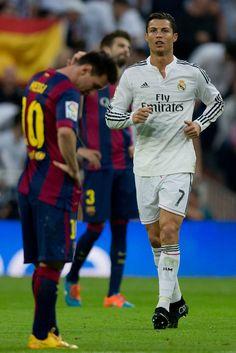 Cristiano Ronaldo Photos Photos: Real Madrid CF v FC Barcelona - La Liga Cristiano Vs Messi, Messi Vs Ronaldo, Lionel Messi, Messi 10, Fc Barcelona, Clasico Real Madrid, Madrid Football Club, Ronaldo Photos, Martial