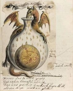 Alchemy: Alchemical images from the Beinecke Library Jhoan Isaac Hollandus, century Alchemical and Rosicrucian compendium. An artwork. Medieval Manuscript, Medieval Art, Illuminated Manuscript, Renaissance Art, Tarot, Alchemy, Arte Obscura, Book Of Shadows, Sacred Geometry