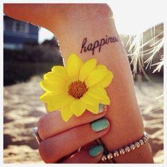 #sunflowers #happiness #tattoo
