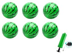 Watermelon Ball Needle Kit, Beach Summer Party,Pack of 6, 6.2 Inch. Includes 6 pieces of Watermelon Bouncing Balls. Balls Measure 16 CM/6.2 Inch. EASY to USE and READY for FUN. A Good Parent-Child interaction toy. Perfect Gift for Graduations, Pool Parties, Beach Trips, Lakes, Birthday Parties, Barbeques, Graduations, Picnics, nearly ANY OCCASION!. The pump color is random.
