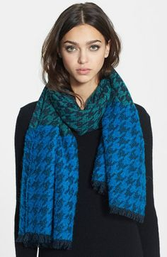 MARC BY MARC JACOBS 'Terence' Houndstooth Scarf available at #Nordstrom