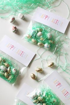 diy printable easter treat bags