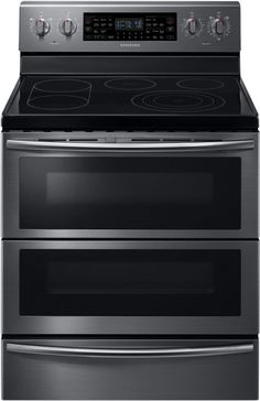 Samsung NE59J7850W 30 Inch Wide 5.9 Cu. Ft. Free Standing Electric Range with Du Black Stainless Steel Ranges Free Standing Electric