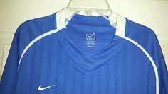 Mens Medium Nike FC Soccer Futbol Varsity Jersey Shirt Mens Dri Fit Royal Blue