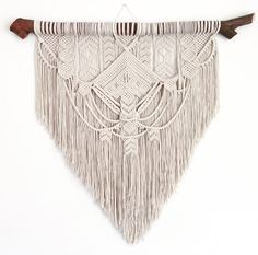 Ancestral weave, Macrame wall hanging