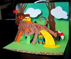 Kunst: maak je eigen POP-UP boekje! Kies een thema (kabouter bijvoorbeeld) en laat de kinderen de figuren allemaal op een bepaalde manier (geometrische vormen bijvoorbeeld) tekenen. Wij hebben deze les op de pabo gedaan en ik vond het zelf erg leuk!