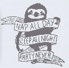 Cross stitch sloth