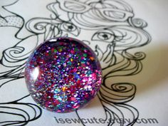 Multicolor Glitter Ring Colorful Glitter Blend by isewcute on Etsy