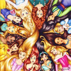 Disney princess hair ✌️