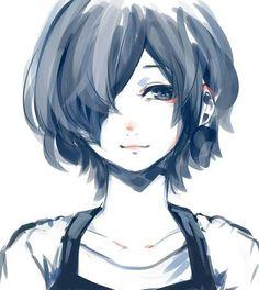 Anime | Girl | Tokyo Ghoul | Cute | Kawaii | Badass | Touka Kirishima | Smile