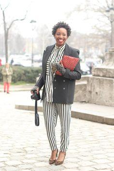 #ConstanceMcLaughlin #stripes #B/W   #fashion #mode #moda #women #paris #look #streetstyle #streetview #street #style #offcatwalk on #sophiemhabille