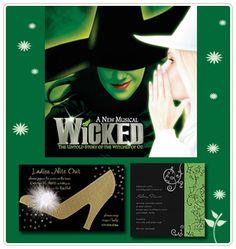 Wicked themed party invitation ideas
