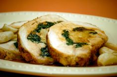 Ballottine of Chicken with Spinach Filling (See video here-http://bit.ly/Uvu9oI)