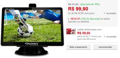 """GPS Automotivo Aquarius Discovery Channel 4.3"""" Touch Screen TV Digital << R$ 8791 >>"""