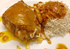 Coconut peanut chicken from Odile-LRQDO Peanut Chicken, Coconut Chicken, Chicken Recipes, Pork, Food And Drink, Rice, Cooking Recipes, Dishes, Meat