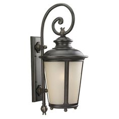 Sea Gull Cape May Outdoor Wall Lantern - 29.75H in. Burled Iron - 88243-780