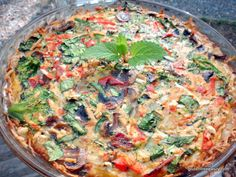 Clean-out-the-Fridge Veggie-Lovers Quiche (Gluten Free, Dairy Free, Refined Sugar Free, Soy Free & More)