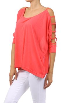 Coral top $44.00