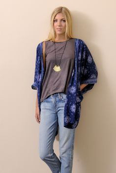 Patrons of Peace Medallion Printed Bed Jacket | South Moon Under