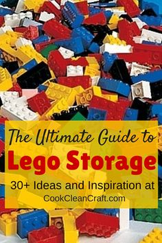 The Ultimate Guide to Lego Storage - all the solutions to organizing your kids' (or your) Lego, from having a couple of sets to more Lego than you could possibly imagine.