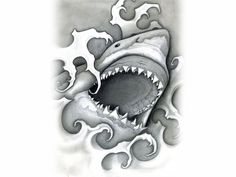 Shark tattoos brought to you by Free Tattoo Ideas - Get your Tattoo Ideas, Tattoo Designs and Tattoo Flash at FreeTattooIdeas.net
