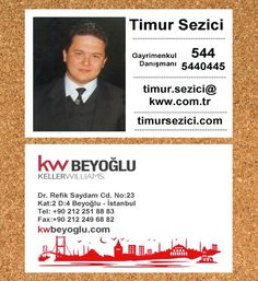 kw timur sezici, kwbeyoglu, keller williams, keller williams business card