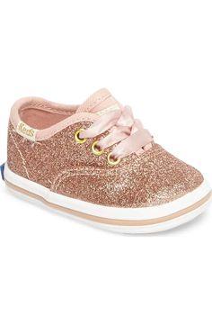 c52580f5d04a Keds® x kate spade new york Champion Glitter Crib Shoe (Baby)