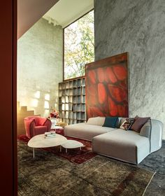 Modern art & living room