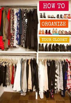Looking for some fresh ideas to remodel your closet? Visit our gallery of leading luxury walk in closet design ideas and pictures. Master Closet, Closet Bedroom, Closet Space, Best Closet Organization, Organization Hacks, Closet Storage, Organizing Tips, Clothing Organization, Organizar Closets
