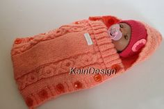 Baby doll sleeping bag  (43-45 cm doll) by kairidesign on Etsy