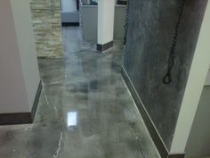 Dental office at Yonge St. and Finch ave. Toronto, new metallic epoxy floors