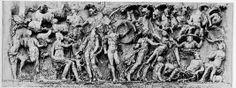 Bassorilievo in marmo ritrovato su sarcofago romano. Rappresenta il giudizio di Paride. Si può datare tra il 180 e il 200 d.C e ora si trova al Museo di Villa Medici a Roma. Tale opera è un esempio di arte patrizia per la chiara influenza ellenistica nelle forme e nei contenuti.
