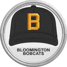Bloomington Bobcats hat - baseball cap - uniform - sports logo - Central Illinois Collegiate League - Minor League Baseball - Created by John Majka World Baseball, Minor League Baseball, Baseball Hats, Sports Logo, Juventus Logo, Caps Hats, Logos, Central Illinois, State College