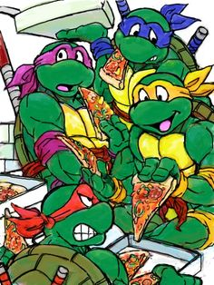 "ninja-turtles-fan-site: ""Parents would say eat your vitamins, we would say eat your PIZZA!! """