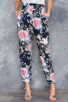 Koson Flowers Lounge Pants - PRESALE ($120AUD) by BlackMilk Clothing